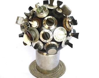 Recycled BOWLING BALL SCULPTURE/ Sputnik