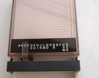 Vintage Address Book File