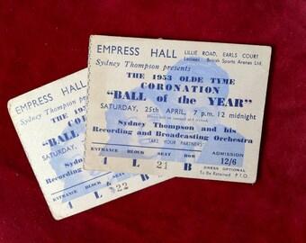 Original Coronation Ball Tickets