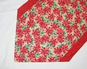 SALE Poinsettia Table Runner