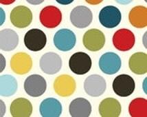 Vintage Polka-Dot , Espresso, Adornit cotton fabric