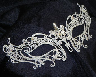 Edgy Metallic Rhinestone Masquerade Mask