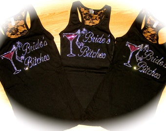 Bachelorette Party Shirts - The Bride, Bride's Entourage , Mother of The Bride , Mother of the Groom - bling Wine / shoe designs