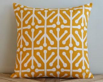 Outdoor Citrus Yellow Aruba Geometric Pillow Cover - 16 inch