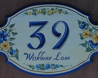 Personalized  House Numbers - Large SC Address Plaques