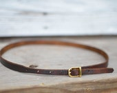 Meriwether Belt // Handmade Leather Belt