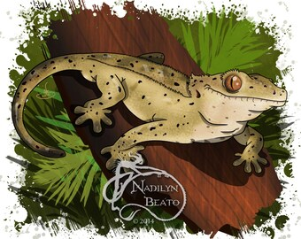 Crested Gecko Daily Creature Prints