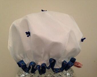 Premium Quality Luxury Spa Shower Cap: Bluebonnet
