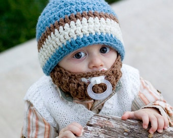 SALE! Infant ULTIMATE Country Blue Bearded Beanie