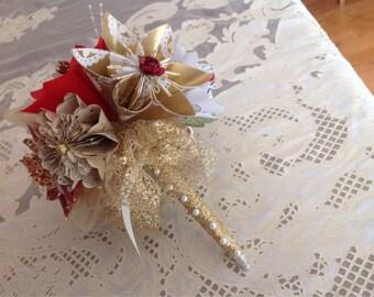 Vintage Origami Bouquet