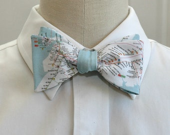 Men's Bow Tie in New York City transportation map, New York bow tie, New York map bow tie, NYC gift bow tie, NY lover bow tie, NYC bow tie