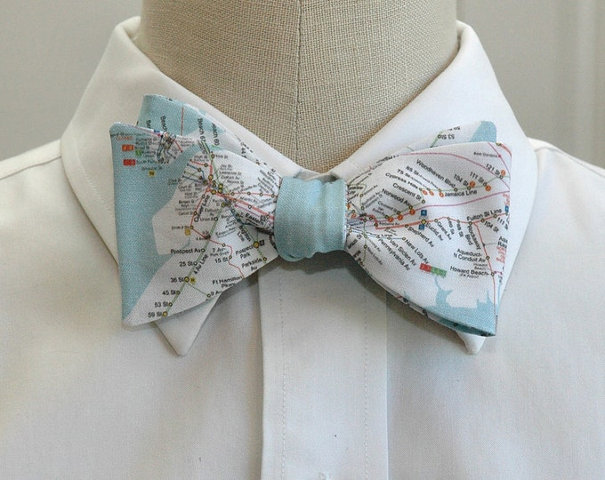 Men's Bow Tie, New York City transportation map, New York bow tie, New York map bow tie, NYC gift bow tie, NY wedding bow tie, NYC bow tie