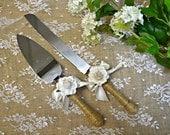 Wedding cake cutter ... rose wedding ... cake server ... wedding reception ... cake knife ... wedding decoration