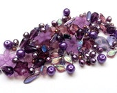 Purple amethyst bead mix / bead soup