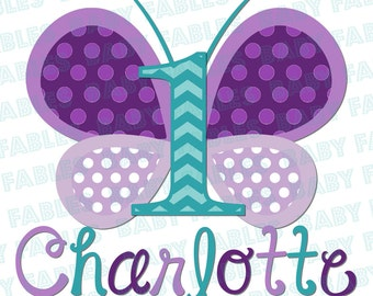 Butterfly iron on Butterfly ONE Butterfly Birthday Iron On Heat Transfer 1st Birthday iron on first birthday iron on heat transfer