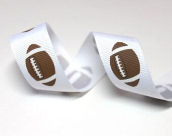 Football Ribbon - Wholesale Grosgrain Ribbon - Grosgrain Ribbon 10 Yards - Ribbon - DIY Crafts - Printed Ribbon - Ribbon for Bows - Ribbons