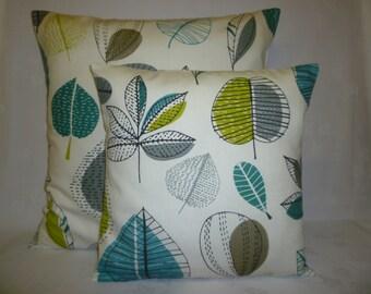 Pillows Teal PAIR BIG SMALL Green Blue Designer Cushion Covers Pillowcases Euro Shams Slips Scatter.