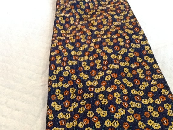 items similar to vintage lands end tie all silk tie yellow