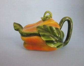 vintage Yellow Pepper tea pot