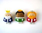 Three Wise Men Christmas felt brooches full set