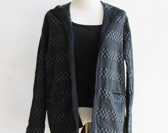 J2, Dark Night Comfort Hood Black Cotton Jacket