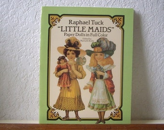 Paper Doll Booklet, Raphael Tuck, LITTLE MAIDS, 1990 reprint, Uncut
