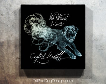 My Patronus is an English Mastiff - Digital File for Instant Download Printable