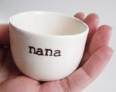 gift for NANA or GRANDMOTHER - baby reveal gift idea - grandma gift idea- nana pill holder- nana ring dish -nana jewelry dish