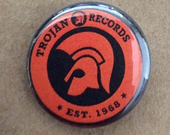 "1"" Button - Trojan Orange"