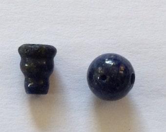 Tibetan mala Lapis Lazuli Guru Bead for meditation GSM-144