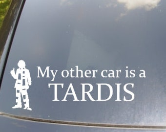 My Other Car is a Tardis Car Sticker