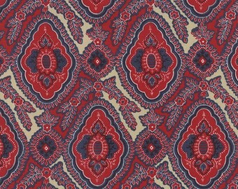 Rue Indienne - Arabelle in Rouge Indigo by French General for Moda Fabrics