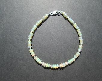 Opal gemstone bracelet- October birthstone