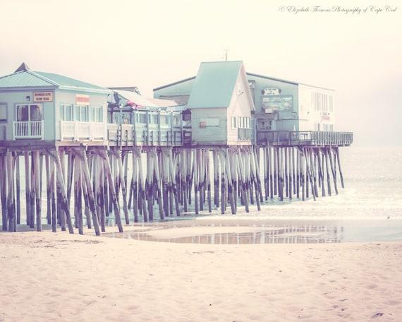 MAINE Photography ~ Old ORCHARD BEACH Maine Fine Art Beach Ocean Marine Nautical Decor Travel Print New England Colorful