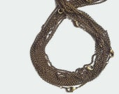2 pcs , 30 inches Antique brass, rolo  link necklace chain, finished