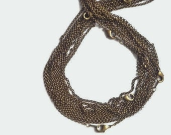 2 pcs , 24 inches Antique brass, rolo  link necklace chain, finished