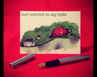 Just wanted to say hello ladybug Greeting Card - single