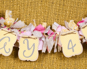 Photo Prop Banner with baby's birthdate (fabric banner not included) 5 Characters