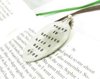 Custom Spoon Bookmark. Recycled Vintage Silverware. Personalized Gift for Book Lovers. Great Stocking Stuffer. Beaded Bookmark. 015EDY