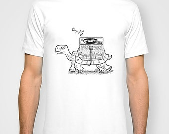 Tortoise Wax - Black and White - Mens / Womens T-shirt / Tee - iOTA iLLUSTRATiON
