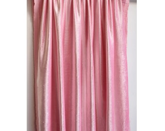 "Soft Pink Velvet Curtain 52""x84"" Rod Pocket Curtain Panel Drapes Home Living Bedroom Decor Housewares Bedding Blackout Lining Shower Curtain"