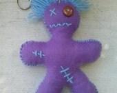 Big Voodoo Doll Key Chain Super Cute Felt Friend