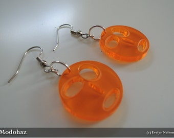 Modus Paras (Mood Faces) Earrings - Orange
