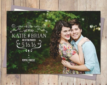 Magnet Save The Date, Save-the-date, Save The Date Postcard, Save the date post card, save the date cards, save the date rustic - ORNAMENTS