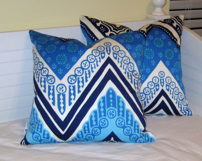 Trina Turk for Schumacher Tangier Frame (on Both Sides) Designer Pillow Cover - Square, Lumbar and Euro Pillow