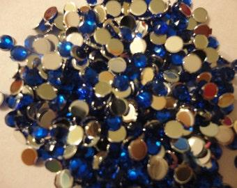Royal blue rhinestones  decoden deco diy  3 mm  more than  100 pcs---USA seller