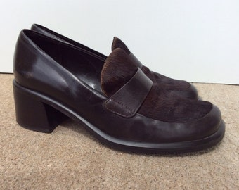 90's Horse Hair Loafers // Size 6M