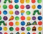 Very Hungry Caterpillar Large Dot and Motifs Pure Cotton Fabric--One Yard