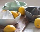 Pottery Citrus Juicer -White Lemon Juicer
