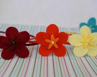 The Lulu -  Children's/Newborn Headband - Clip - You Pick Colors - Photography Prop - Flowers - Felt